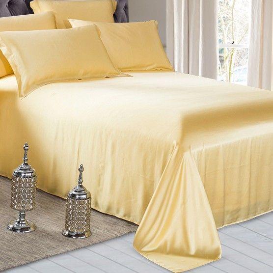 gold silk flat sheet #bestbedsheetsforsummer