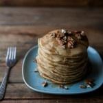 Naturally Ella   Hazelnut Pancakes with Roasted Rhubarb Cardamom Compote   Naturally Ella