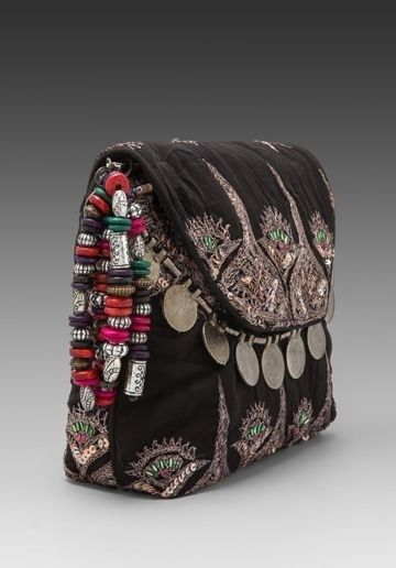 black ethnic hippie clutch
