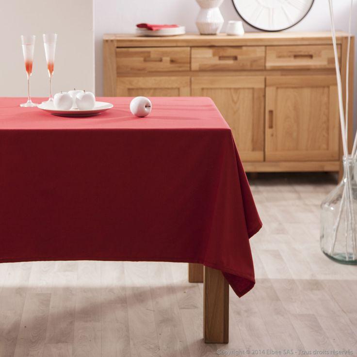 Nappe carrée unie 100% coton enduit traité teflon GARANCE Comptoir des toiles