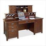 "$1125.99  Kathy Ireland Home by Martin Furniture - Tribeca Loft Cherry - 69"" W Executive Desk Set - TLC478-TLC678-TLC680"