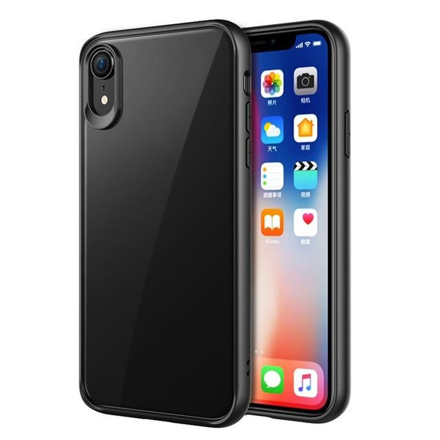 VPOWER For 2018 iPhone XR XS Max 5.8 6.1 case, Crystal Clear Phone protection soft + hard hybrid case for iphone xs max cover