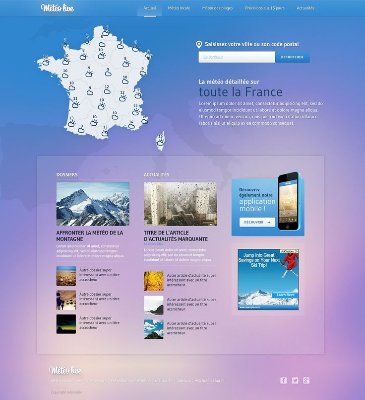 Meteo - Free PSD Template