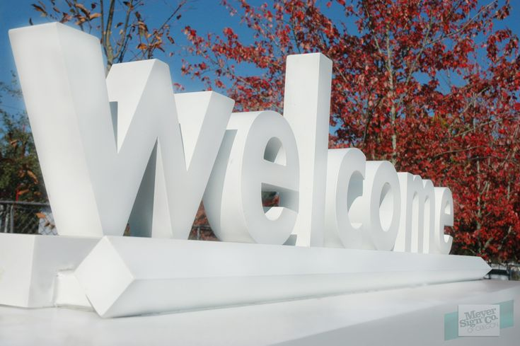 Welcome letters from monument sign kaiser gateway for Furniture 5 letters