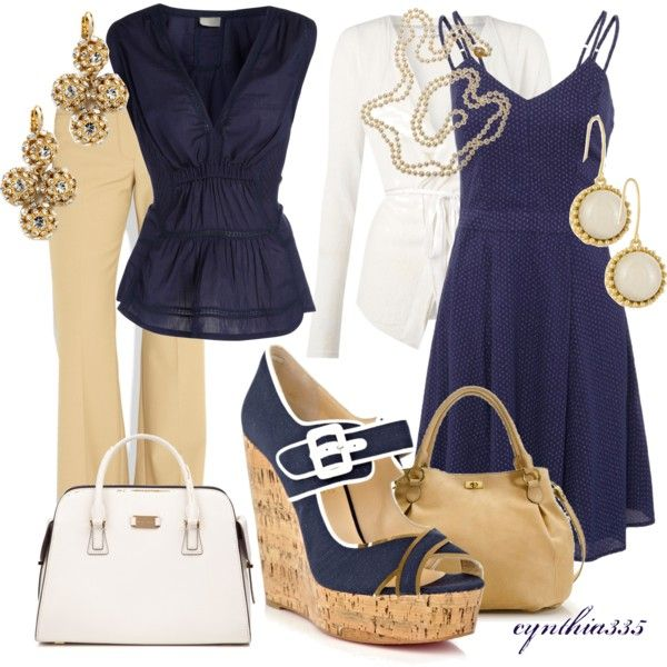 Work Clothes | Navy Peep Toe Wedges | Fashionista Trends