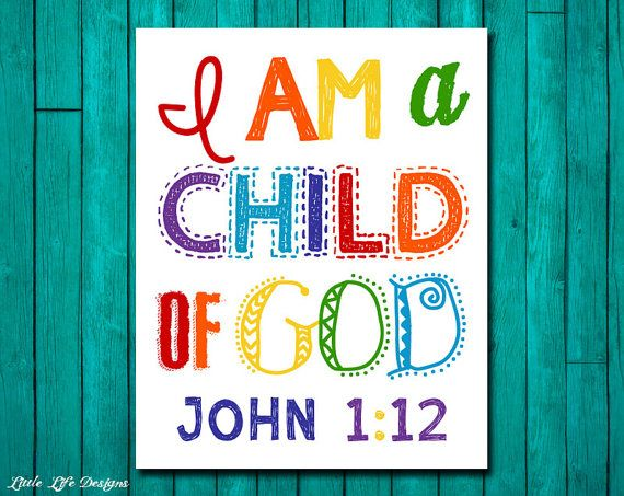 Christian Wall Art. Children's Room Decor. I am a child of God by LittleLifeDesigns