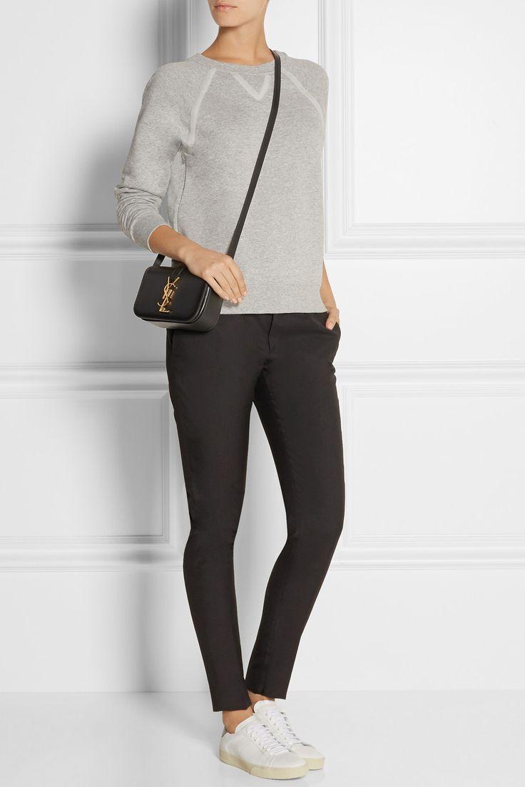 Saint Laurent | Monogramme Sac Universit¨¦ small leather shoulder ...