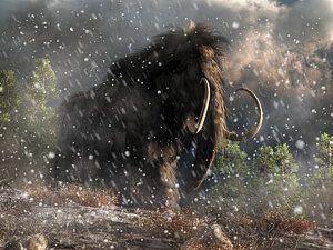 Digital Art - Mammoth In A Blizzard by Daniel Eskridge