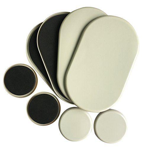 Premium Lot de 49–1/5,1cm X 5–3/10,2cm ovale Heavy curseurs de meubles et Lot de 4curseurs de 8,9cm–Heavy meubles Mover, Tapis,…