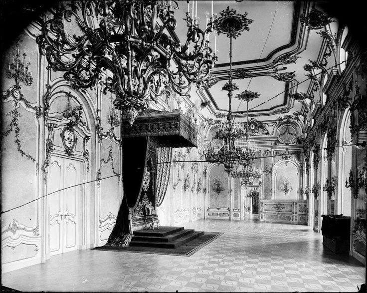 Troonzaal koninklijk paleis Boedapest, voor de verwoesting in 1945.