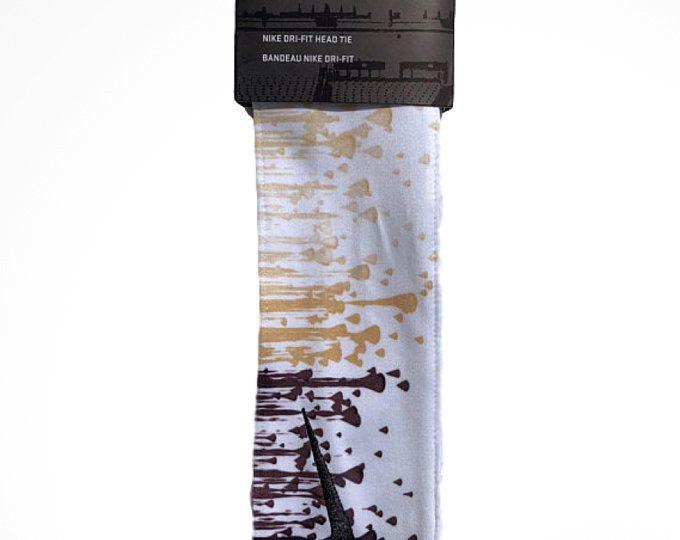 ae9956f134a58 Custom Multi. Color Droplets Nike Dri-Fit Head Tie Headband - Black ...