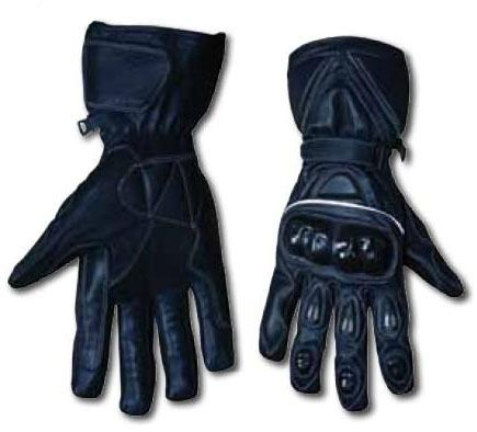Summer Cowhide Leather Gloves ROAD AND RACE Motorbike Motorcycle Black Gloves
