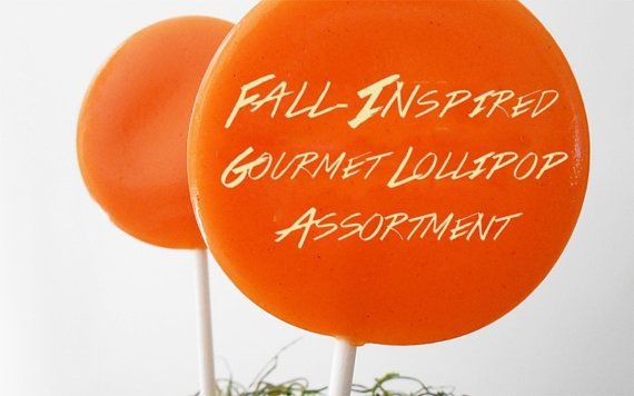 Fall Gourmet Lollipop Assortment - Set of 7 - Fall Party Favors - party favors with cute tags.