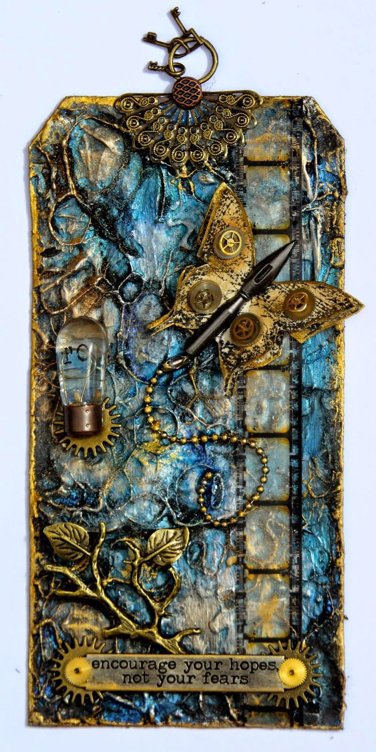 Mixed Media Tag - Flying Unicorn Creative Team