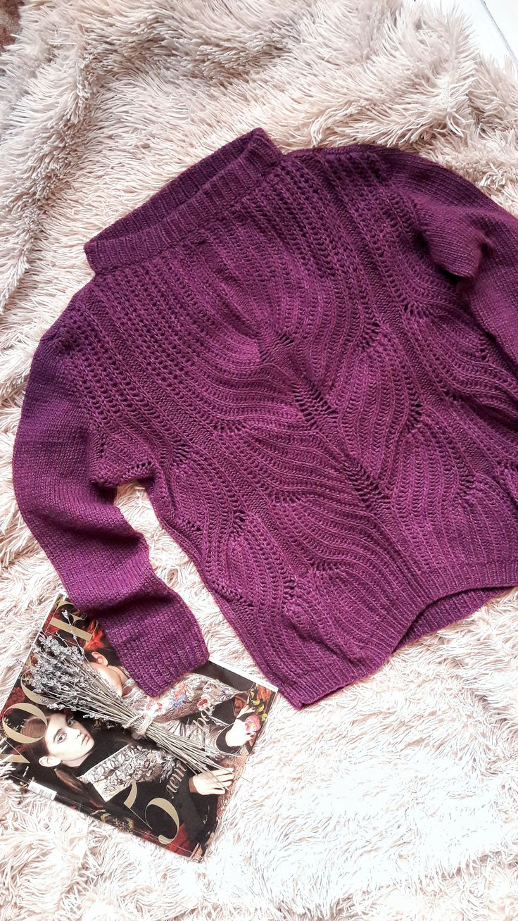 ready to ship purple orchid sweater for women - hand knitted merino wool sweater for women