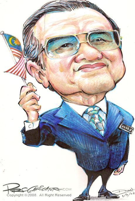 Caricature Tun Dr. Mahathir Mohamad by Procaricature (procaricature.wordpress.com).