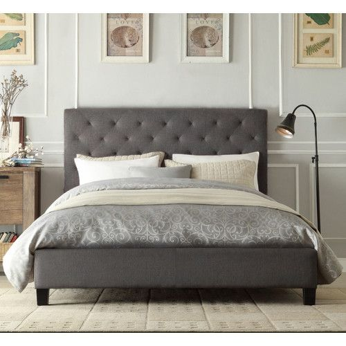 details about new chester linen bed frame - Queen Bed And Frame
