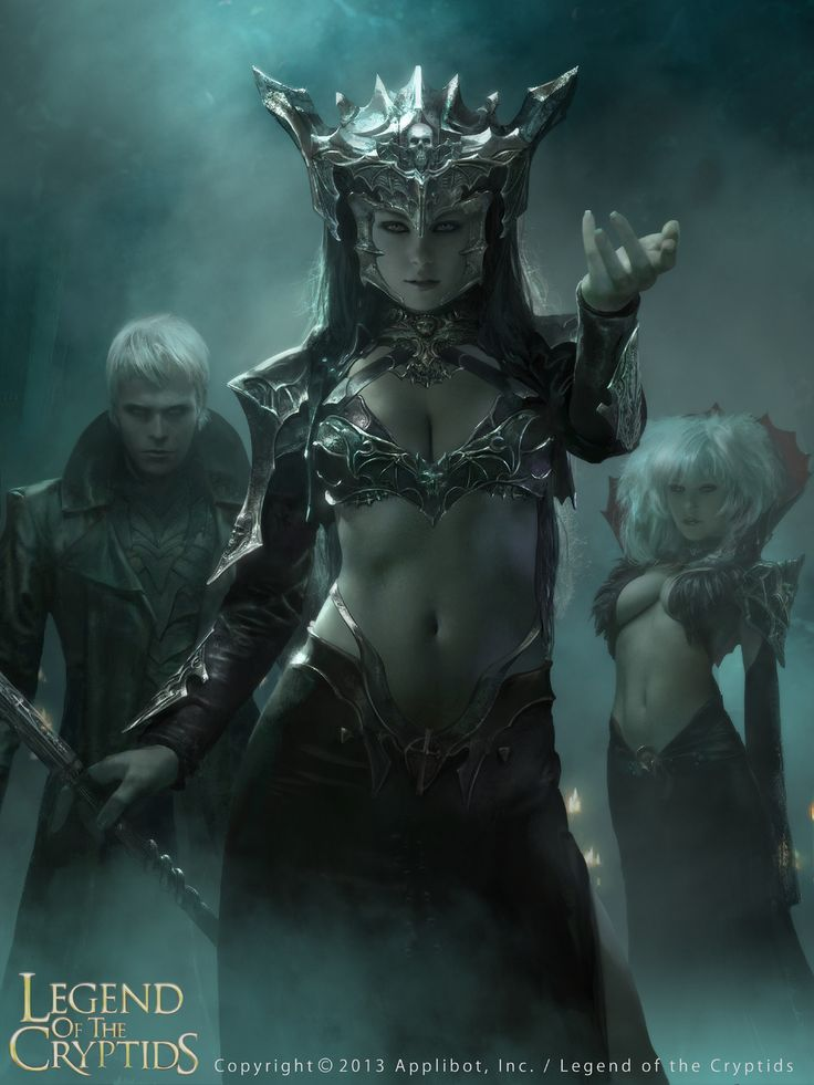 Vampire Queen Fantasy Art for LEGEND OF THE CRYPTIDS:
