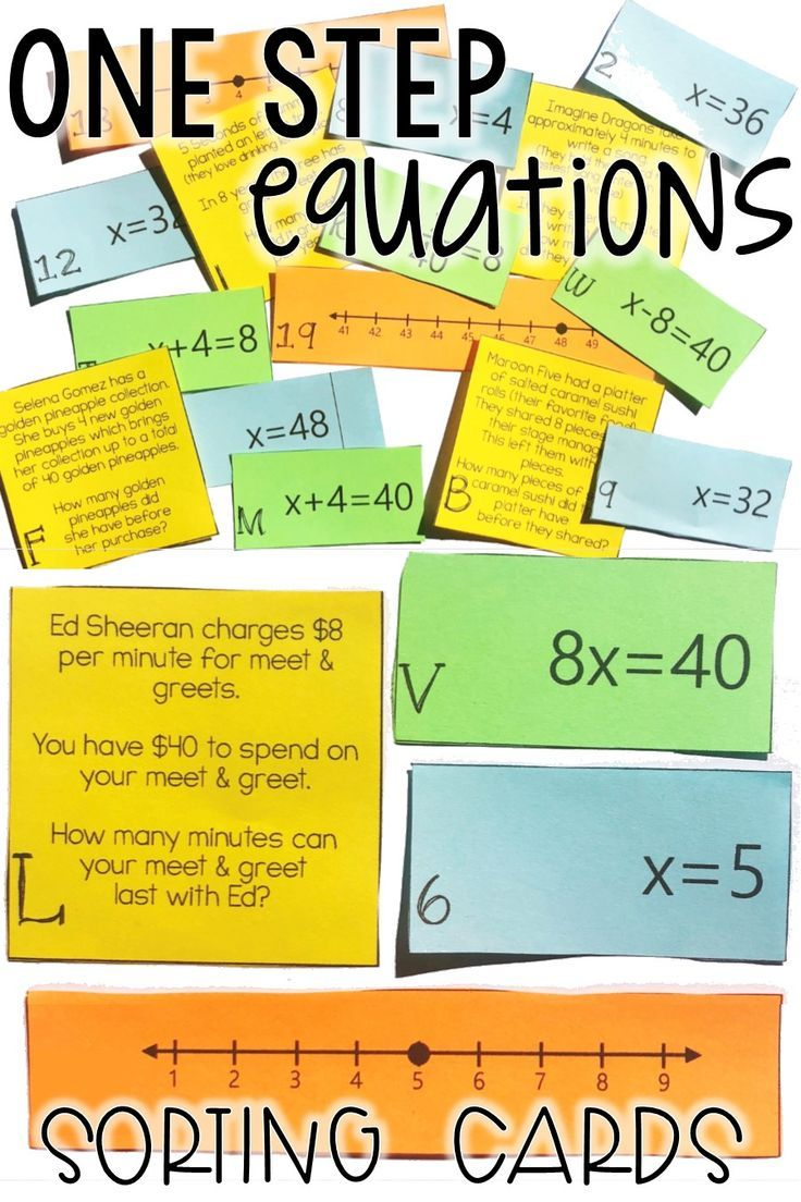 Predownload: This One Step Equation Word Problems Card Sort Activity Was The Perfect Activity To Teach My 6th Grade Math And 7t One Step Equations Word Problems Number Line [ 1104 x 736 Pixel ]