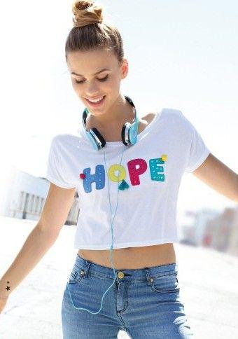 Tričko s potiskem HOPE #ModinoCZ #modino_cz #modino_style #style  #fashion #spring #summer #shirt