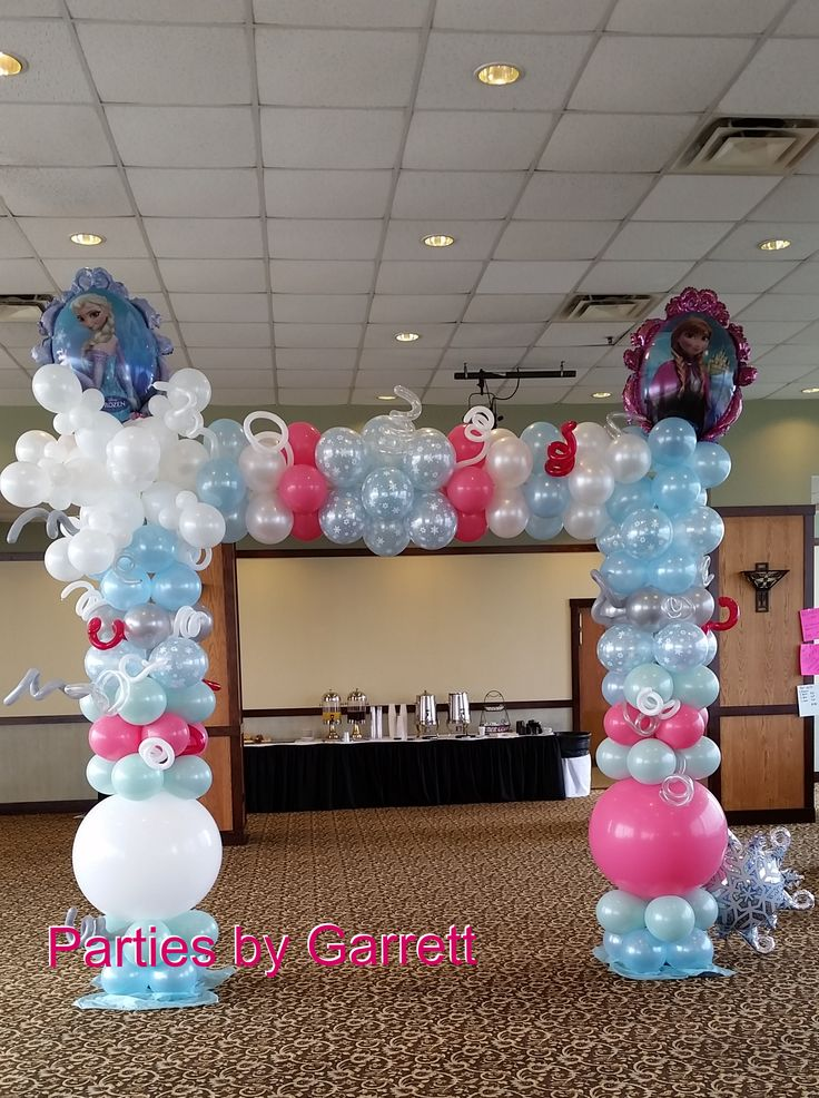 Best 25 frozen balloon decorations ideas on pinterest for Balloon arch frame kit party balloons decoration