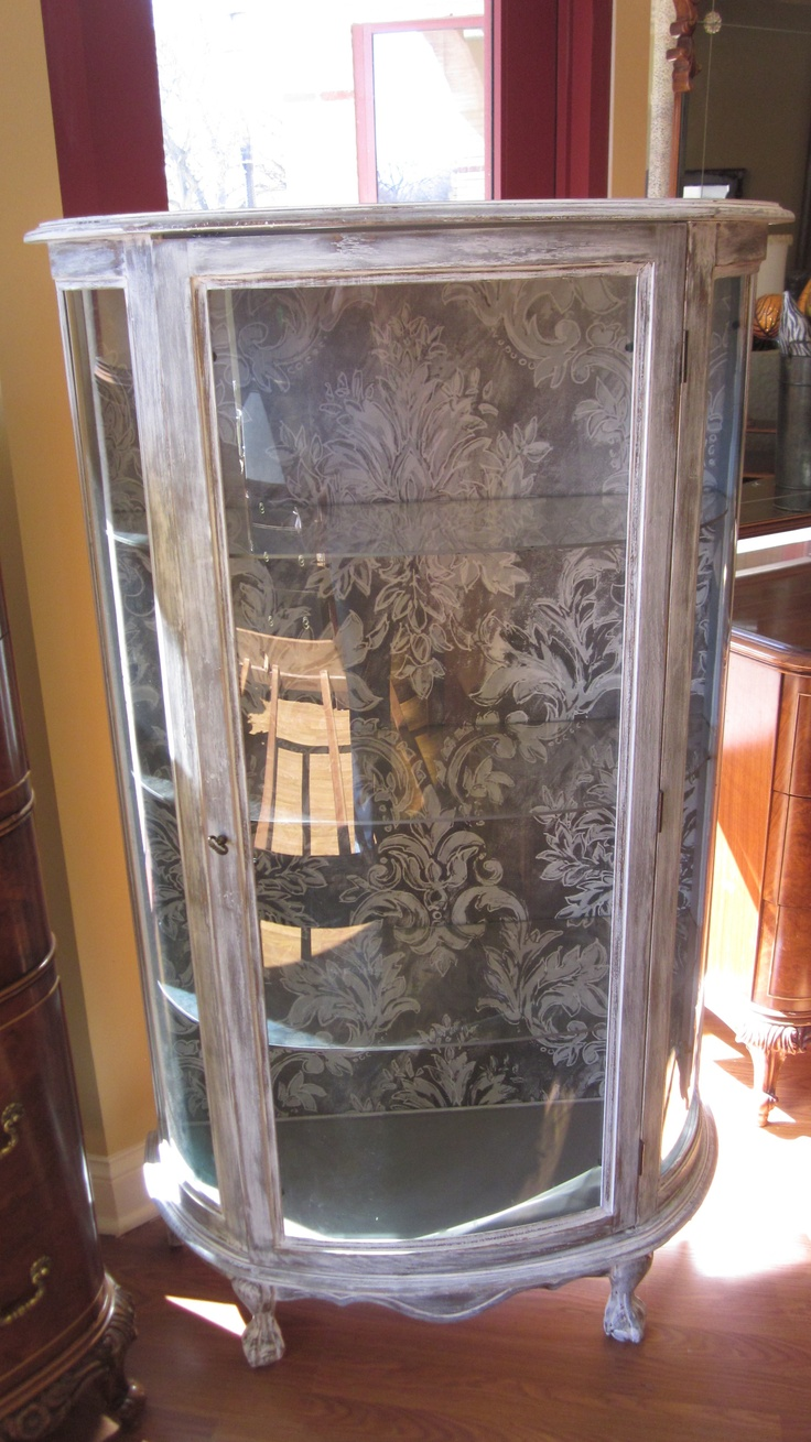 Painted Curio Cabinet $300 - Riverside http://furnishly.com/catalog/product/view/id/4036/s/painted-curio-cabinet/
