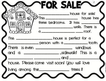 haunted house for sale writing activity for preschoolers