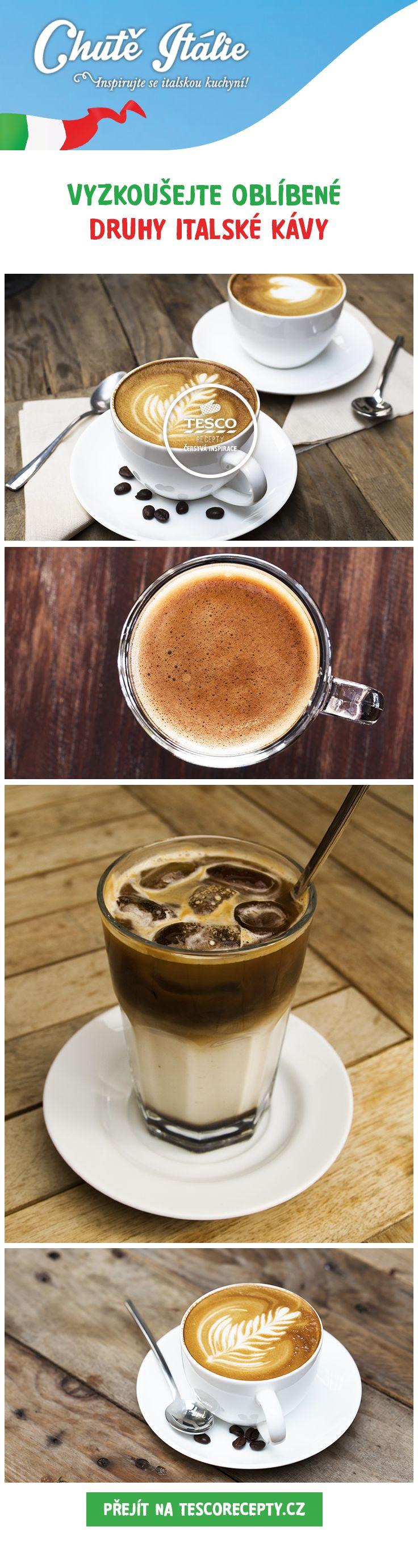 Vyzkoušejte oblíbené druhy italské kávy, inspirujte se na tescorecepty.cz!