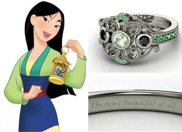 ♥Como nos contos de fada... Anéis de noivado inspirados nas princesas da Disney...Interessantes...