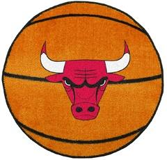 Chicago Bulls Basketball Shaped Rug