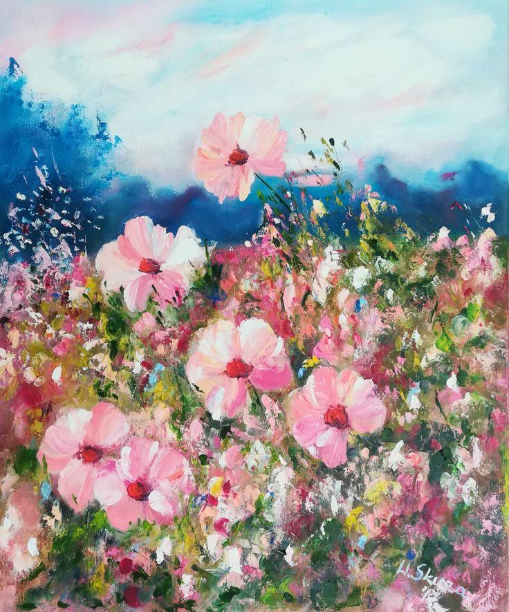 Obraz olejny na płótnie 50x60, #flowers #kwiaty #malowaneręcznie#malowane #painting #oilpainting