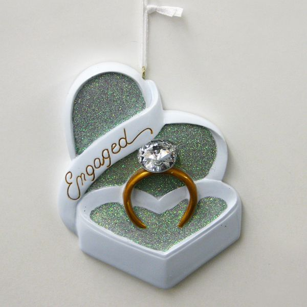 "RESIN ""ENGAGED"" RING ORNAMENT #WEDDINGORNAMENT #ENGAGEDORNAMENT"