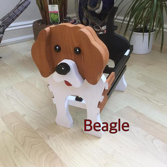 Wooden Garden Ornament Beagle Design Made To Order Can Be Painted