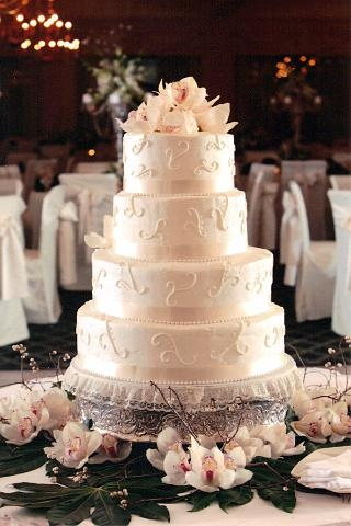 Pearl Dusted Wedding Cake By Pm Frosted Www Pmcakes In Toledo Ohio