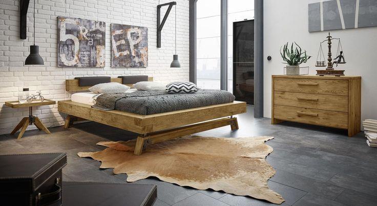 Hochwertige Schlafzimmer Komplett   Bed design, Oak beds, Bed frame and headboard