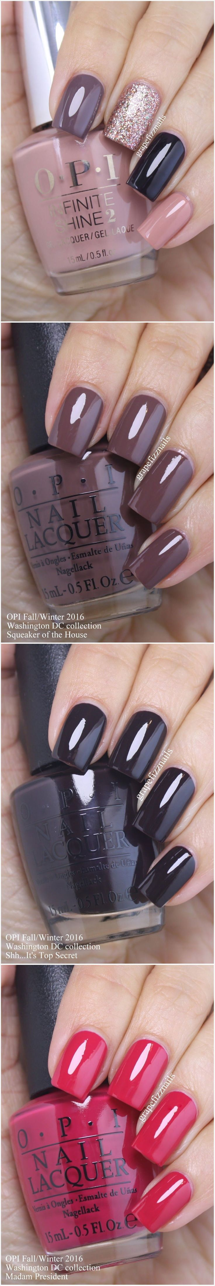 OPI nail swatches fall