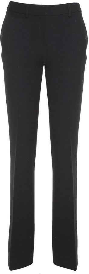 L'Autre Chose Flared Wool-crepe Trousers