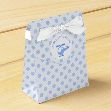 Blue Helicopter Birthday Favor Box - blue gifts style giftidea diy cyo