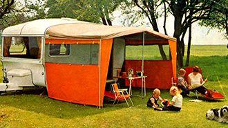 Vintage 1970's Bailey caravan