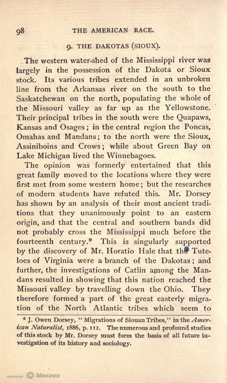 The American Race: A Linguistic Classification and Ethnographic Description of the Native Tribes of North and South America, Page 100 | Document Viewer