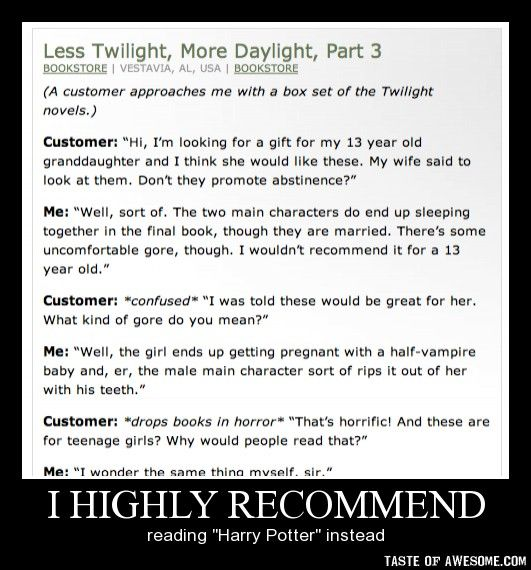 Harry Potter > Twilight ANY DAY and this proves it! lol