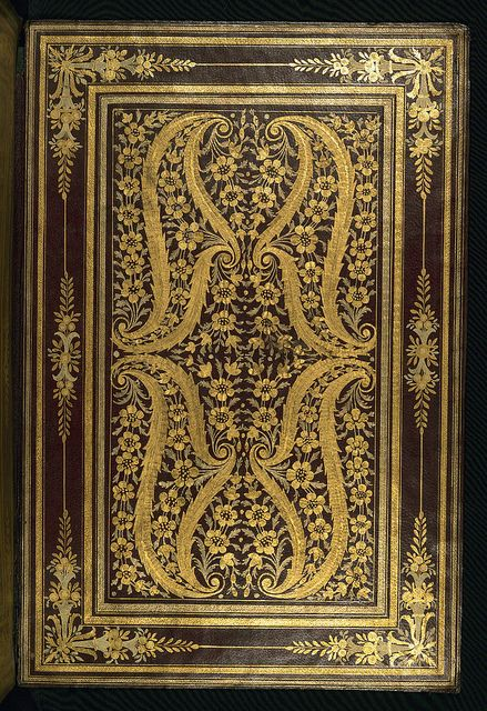Album of Persian miniatures and calligraphy, Binding, Walters Manuscript W.671, Album of Persian miniatures and calligraphy, Binding, Walters Manuscript W.671, Upper board inside by Walters Art Museum Illuminated Manuscripts, via Flickr