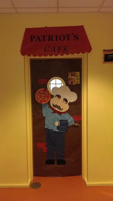 Restaurant week chef classroom door decoration