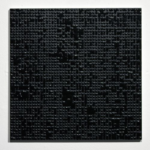 Gregory Hayes, Untitled (Black #A) Acrylic on MDF 12 x 12 inches 2010.jpg