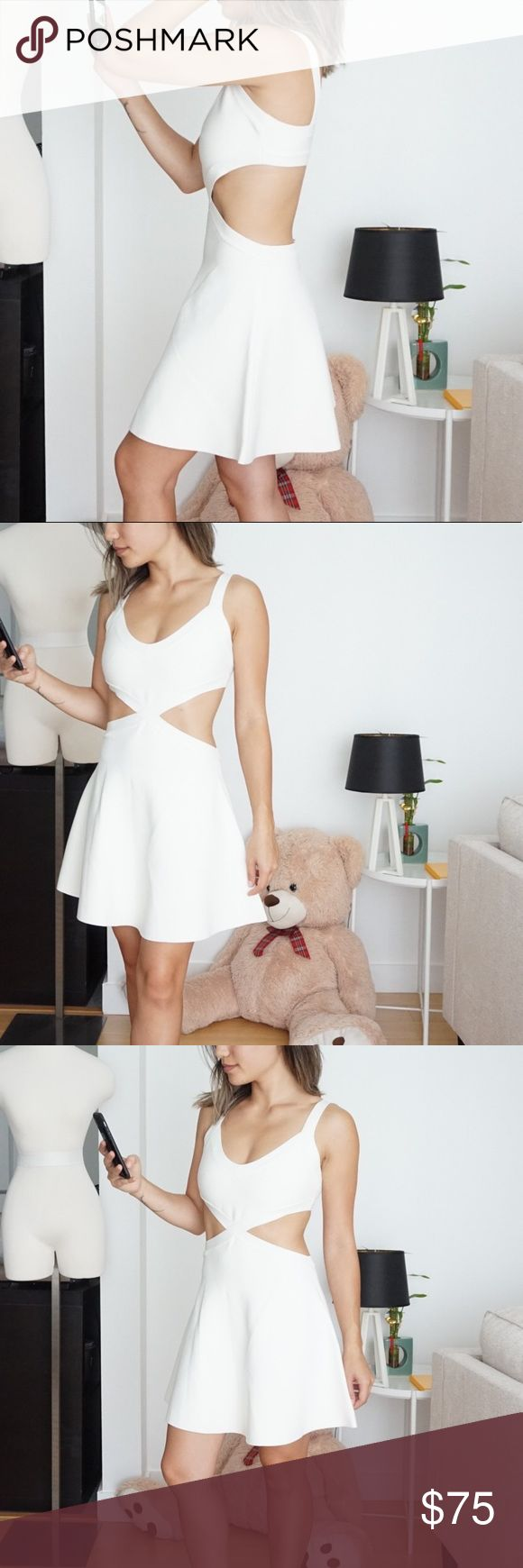 White cutout dress by bcbg nwt in my posh closet pinterest