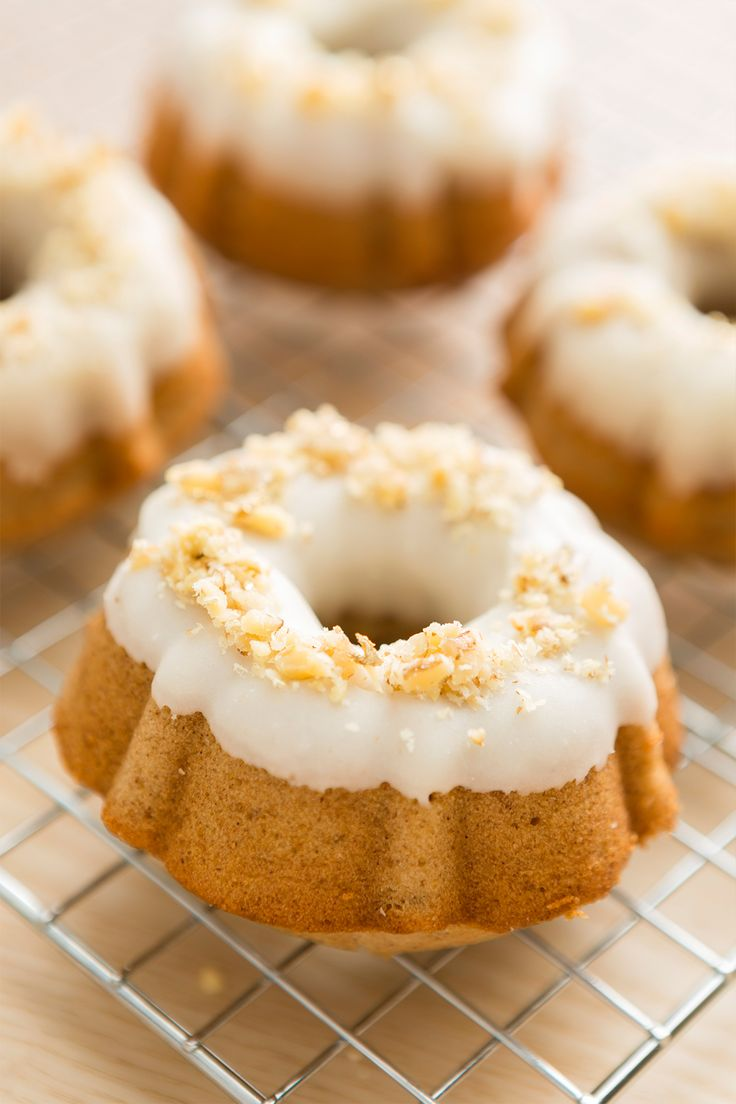 Whip up a batch of these Maple Bourbon Walnut Mini Bundt Cakes that make perfect last-minute homemade holiday gifts for teachers, friends or even family! #partner