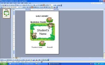 -  Edit and personalize this cute jungle themed coversheet-  Slip it in the front clear cover of a plastic folder or binder -  Change the header to fit your needsEnjoy!