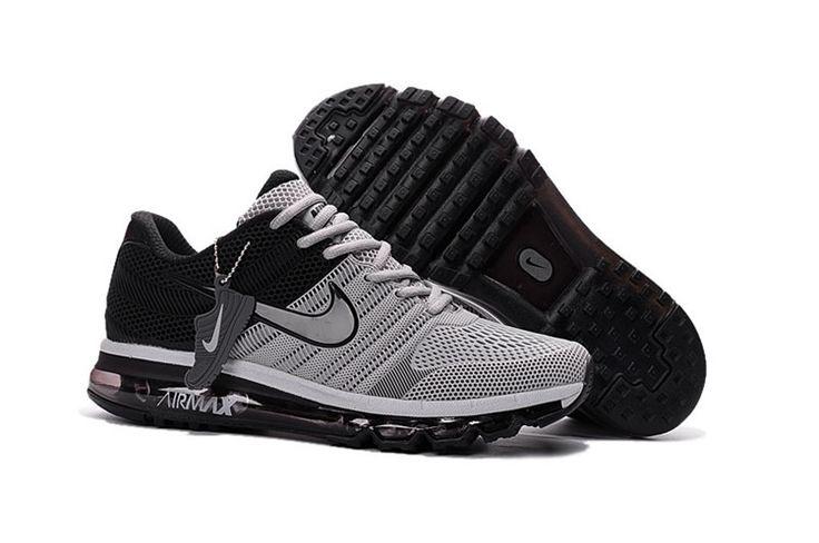 Nike Air Max 2017 Hot Running Shoes For Men Gray Black