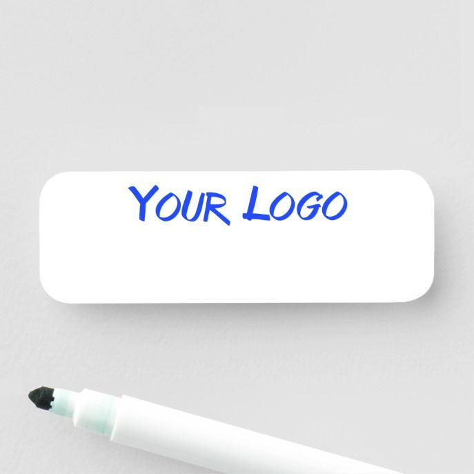 Dry Erase Business Customizable New Employee Name Tag