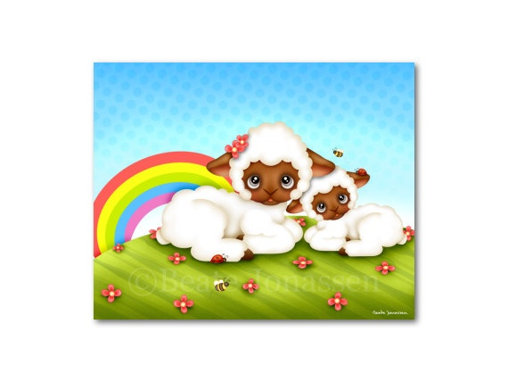 Printable Wall Art  Sheep Love by CuteMemories on Etsy, $8.00